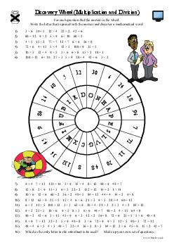 Discovery Wheel (Multiplication and Division)