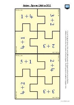 Action: Jigsaws (Add to 10) 1