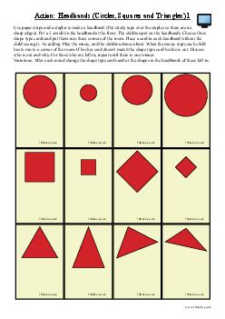 Action: Headbands (Circles, Squares and Triangles) 1