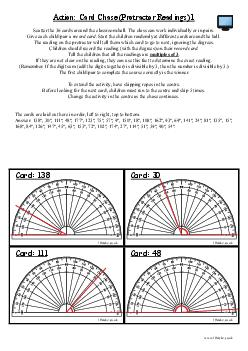 Action: Card Chase (Protractor Readings) 1