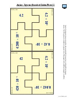 Action: Jigsaws (Standard Index Form) 1
