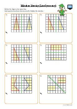 Mistaken Identity (Line Symmetry)