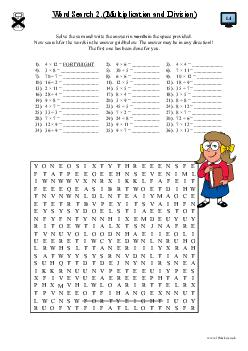 Word Search (Multiplication and Division) (b)