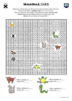 Multiple Maze (6, 7, 8 & 9)
